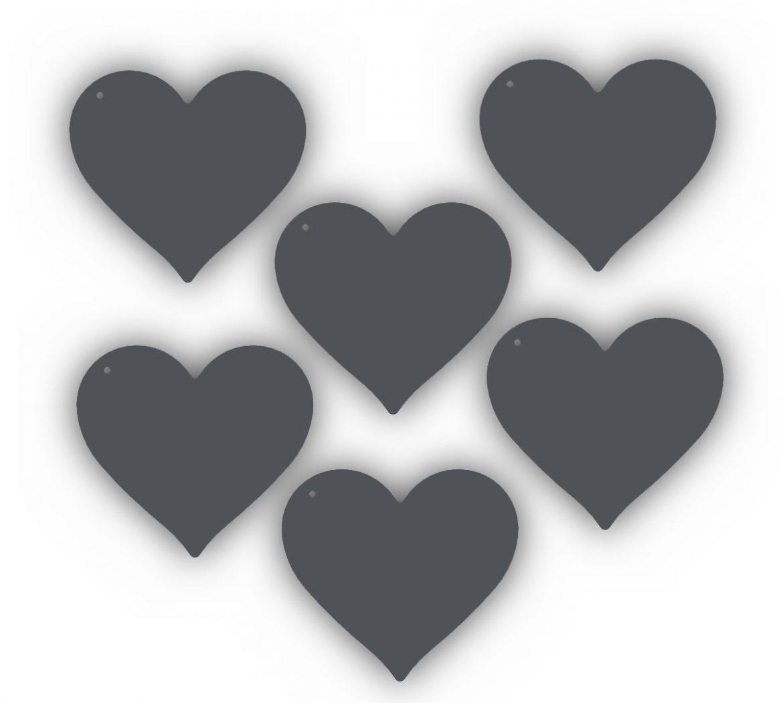 6 dessous de verre Coeur