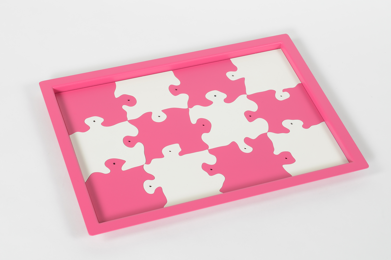 12 dessous de verre Puzzle + plateau de rangement