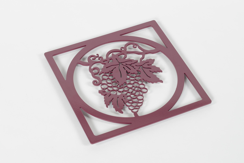 Dessous de plat carré grappe