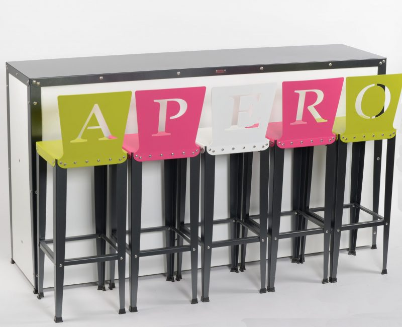 Chaises de bar APERO (lot de 5)