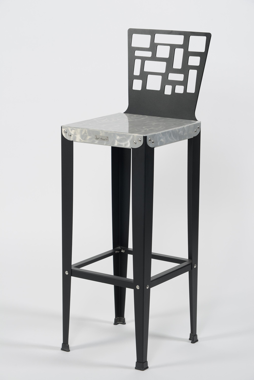 chaise de bar lilou d5 luxe styl 39 m tal21. Black Bedroom Furniture Sets. Home Design Ideas