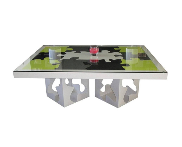 Table basse Puzzle 2 pieds