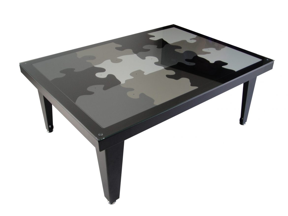 Table basse Puzzle 4 pieds