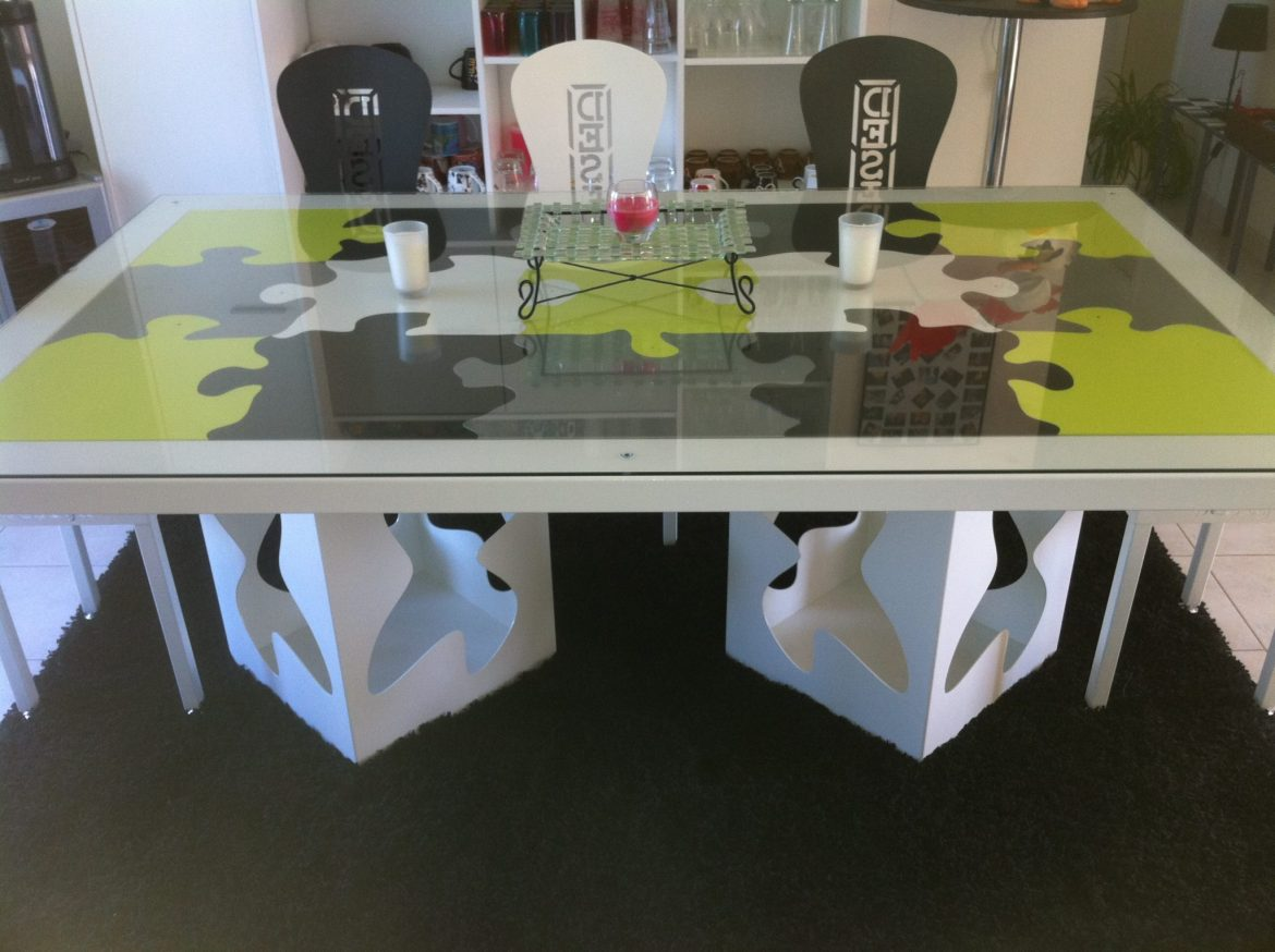 Table Puzzle 2 pieds